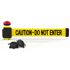 banner stakes mh7003l 7 magnetic wall mount barrier with light kit, caution-do not enter Banner Stakes MH7003L 7 Magnetic Wall Mount Barrier With Light Kit, Caution-Do Not Enter
