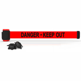 "banner stakes mh7008 - 7 magnetic wall mount barrier, ""danger-keep out"" banner Banner Stakes MH7008 - 7 Magnetic Wall Mount Barrier, ""Danger-Keep Out"" Banner"
