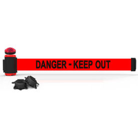 banner stakes mh7008l 7 magnetic wall mount barrier with light kit, danger-keep out Banner Stakes MH7008L 7 Magnetic Wall Mount Barrier With Light Kit, Danger-Keep Out