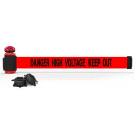 banner stakes mh7009l 7 magnetic wall mount barrier with light kit, danger high voltage keep out Banner Stakes MH7009L 7 Magnetic Wall Mount Barrier With Light Kit, Danger High Voltage Keep Out