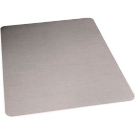 "119355 ES Robbins; Office Chair Mat for Hard Floor - 46"" x 60"" - Stainless Finish - Straight Edge"