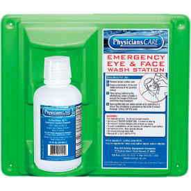 24-000 PhysiciansCare; Wall Mount Eye Flush Station, Single, 16 Oz. Bottle, 24-000
