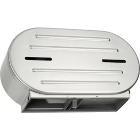"0040 ASI; Surface Mounted Twin 9"" Jumbo Roll Toilet Tissue Dispenser - 0040"