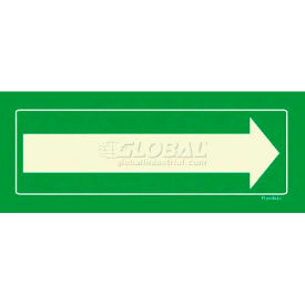photoluminescent long arrow, peel-and-stick self-adhesive sign Photoluminescent Long Arrow, Peel-And-Stick Self-Adhesive Sign