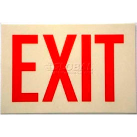 photoluminescent sign with exit in reflective red, rigid pvc, non-adhesive Photoluminescent Sign With Exit In Reflective Red, Rigid PVC, Non-Adhesive