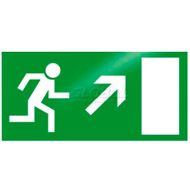 "photoluminescent ""man right up"" rigid pvc sign, non-adhesive Photoluminescent ""Man Right Up"" Rigid PVC Sign, Non-Adhesive"