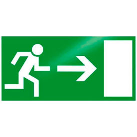 "photoluminescent ""man to right"" rigid pvc sign, non-adhesive Photoluminescent ""Man To Right"" Rigid PVC Sign, Non-Adhesive"