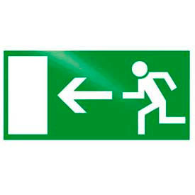 "photoluminescent ""man to left"" rigid pvc sign, non-adhesive Photoluminescent ""Man To Left"" Rigid PVC Sign, Non-Adhesive"