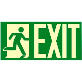 "photoluminescent ""man to right exit"" nyc-mea-listed aluminum sign Photoluminescent ""Man To Right Exit"" NYC-Mea-Listed Aluminum Sign"