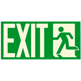 "photoluminescent ""man to left exit"" nyc-mea-listed aluminum sign Photoluminescent ""Man To Left Exit"" NYC-Mea-Listed Aluminum Sign"