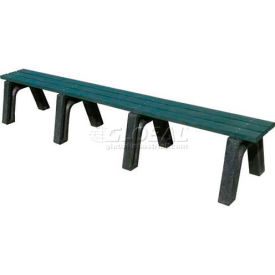 polly products econo-mizer 8 ft. flat bench, brown bench/black frame