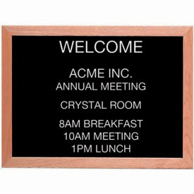 "Aarco Red Oak Framed Letter Board Message Center - 24""W x 18""H"