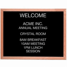 "Aarco Red Oak Framed Letter Board Message Center - 30""W x 24""H"