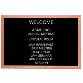 "Aarco Red Oak Framed Letter Board Message Center - 36""W x 24""H"