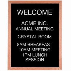 "Aarco Red Oak Framed Letter Board Message Center - 24""W x 30""H"