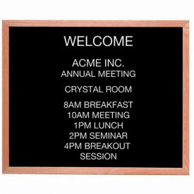 "Aarco Red Oak Framed Letter Board Message Center - 36""W x 30""H"
