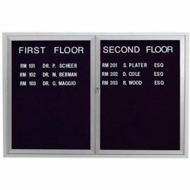 "Aarco 2 Door Enclosed Letter Board Cabinet, Illuminated - 48""W x 36""H"