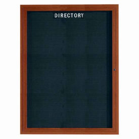 "Aarco 1 Door Aluminum Frame Wood Look, Oak Enclosed Letter Board - 36""W x 48""H"