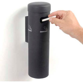 wall mounted cigarette receptacle black Wall Mounted Cigarette Receptacle Black