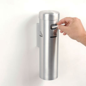 wall mounted cigarette receptacle satin Wall Mounted Cigarette Receptacle Satin