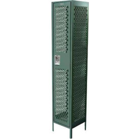 "11-31121278-36-SAA Competitor Ventilated Single Tier Locker, 3 Wide, 12""W X 12""D X 72""H, Assembled, Blue Frost"