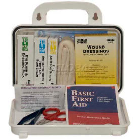 6410 Pac-Kit; Weatherproof Plastic ANSI Plus Pac-Kit; #10 First Aid Kit