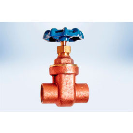 american valve 1-1/4 in. lead-free brass full pattern gate valve - solder ends American Valve 1-1/4 In. Lead-Free Brass Full Pattern Gate Valve - Solder Ends