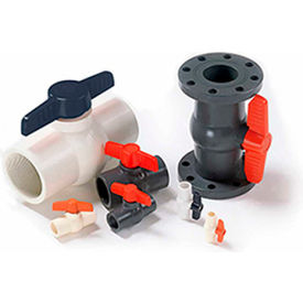 american valve 2 in. pvc 1-piece ball valve - sche. 40 - 150 psi - socket American Valve 2 In. PVC 1-Piece Ball Valve - Sche. 40 - 150 PSI - Socket