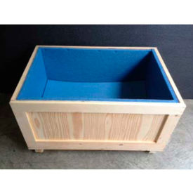 "wood crate with 1"" polyethylene foam lining two-way entry, 48"" l x 48"" w x 54"" h Wood Crate With 1"" Polyethylene Foam Lining Two-Way Entry, 48"" L x 48"" W x 54"" H"