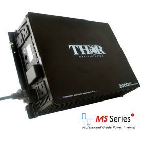 thor thms2000, 2000 watt continuous/4000 watt max power, 12 volt modified sine wave power inverter THOR THMS2000, 2000 Watt Continuous/4000 Watt Max Power, 12 Volt Modified Sine Wave Power Inverter