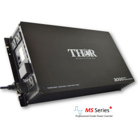 thor thms3000, 3000 watt continuous/6000 watt max power, 12 volt modified sine wave power inverter THOR THMS3000, 3000 Watt Continuous/6000 Watt Max Power, 12 Volt Modified Sine Wave Power Inverter