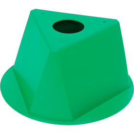 055GREEN Inventory Cone Green 3-Sided