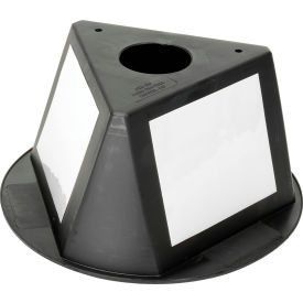 056CBLACK Inventory Cone Black 3-Sided with Dry Erase Decal