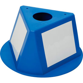 056CBLUE Inventory Cone Blue 3-Sided with Dry Erase Decal
