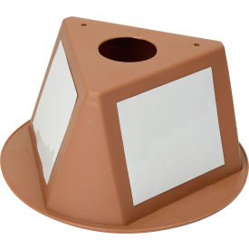 056CTAN Inventory Cone Tan 3-Sided with Dry Erase Decal