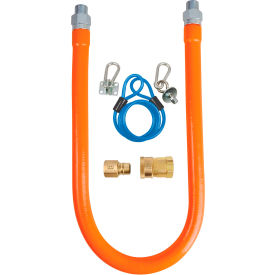 "bk resources 1/2"" x 48"" commercial gas hose kit csa and ansi approved, bkg-ghc-5048-sck2 BK Resources 1/2"" x 48"" Commercial Gas Hose Kit CSA and ANSI Approved, BKG-GHC-5048-SCK2"