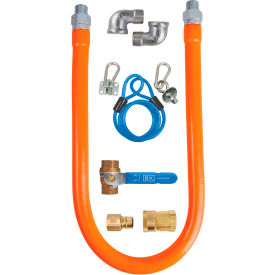 "bk resources 1/2"" x 48"" commercial gas hose kit csa and ansi approved, bkg-ghc-5048-sck3 BK Resources 1/2"" x 48"" Commercial Gas Hose Kit CSA and ANSI Approved, BKG-GHC-5048-SCK3"