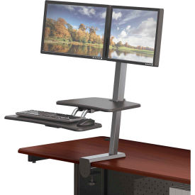 90531 Balt; Desk Mounted Sit/Stand Workstation - Dual Monitor