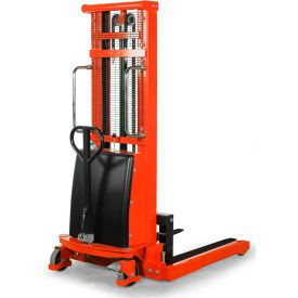 "ballymore battery operated power lift stacker ballypal22ag63 - 2200 lb. capacity - 63"" lift Ballymore Battery Operated Power Lift Stacker BALLYPAL22AG63 - 2200 Lb. Capacity - 63"" Lift"