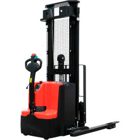 "ballymore fully powered straddle stacker lift truck ballypal35tsl157 - 3500 lb. capacity - 157"" lift Ballymore Fully Powered Straddle Stacker Lift Truck BALLYPAL35TSL157 - 3500 Lb. Capacity - 157"" Lift"