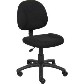 B315-BK Boss Deluxe Posture Chair - Fabric - Black