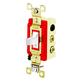 4925W Bryant 4925W Toggle Switch, Double Pole, Double Throw, 20A, 120/277V AC, White