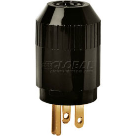 5965B Bryant 5965B TECHSPEC; Straight Blade Plug, 15A, 125V, Black