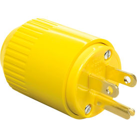 5965BY Bryant 5965BY TECHSPEC; Straight Blade Plug, 15A, 125V, Yellow Thermoplastic
