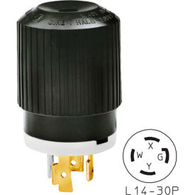 71430NP Bryant 71430NP TECHSPEC; Plug, L14-30, 30A, 125/250V, Black/White