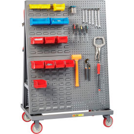 "little giant® mobile a-frame - lean tool cart, combo pegboard/louvered panels, 24""d x 60""w Little Giant® Mobile A-Frame - Lean Tool Cart, Combo Pegboard/Louvered Panels, 24""D x 60""W"