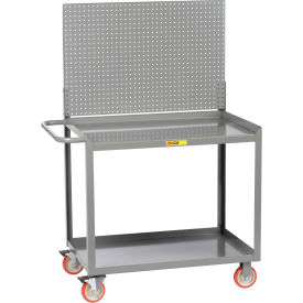 "little giant® mobile workstation mw-2448-5tl-pb with pegboard panel 24"" x 48"" 1200 lbs. cap. Little Giant® Mobile Workstation MW-2448-5TL-PB With Pegboard Panel 24"" x 48"" 1200 Lbs. Cap."