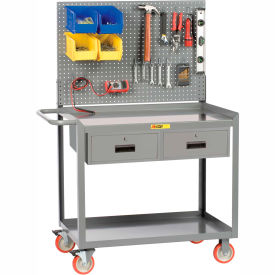 "little giant® mobile workstation mw2448-5tl-2drpb with pegboard panel 24"" x 48"" 2 drawer Little Giant® Mobile Workstation MW2448-5TL-2DRPB With Pegboard Panel 24"" x 48"" 2 Drawer"