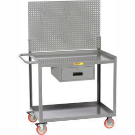 "little giant® mobile workstation mw2448-5tl-drpb with pegboard panel 24"" x 48"" 1 drawer Little Giant® Mobile Workstation MW2448-5TL-DRPB With Pegboard Panel 24"" x 48"" 1 Drawer"