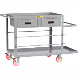 "RC-2448-5PYTL2DR Little Giant; Wire Reel Electricians Cart, 24""x48"", 2 Drawers"